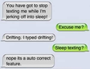 Sleep texting example