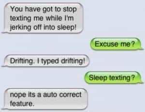 Sleep texting example