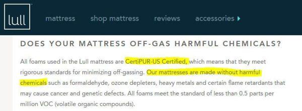 Is Lull Mattress Toxic?