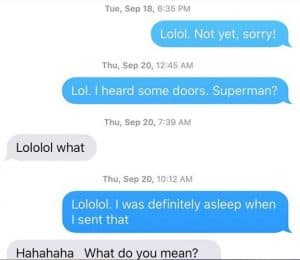 I was sleep texting